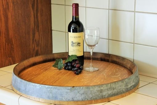 Custom Made Wine Barrel Lazy Susan