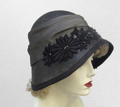 Hand Made Couture Vintage Style Cloche Women's Hat by Gail's Custom