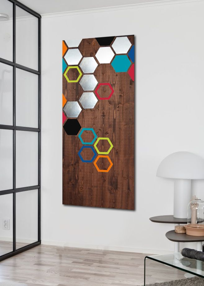 Buy a Hand Made Mod Honeycomb 48x20 - Wood Wall Art, Modern Art ...