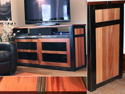 Custom Made Mahogany Entertainment Console