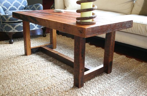 Custom Made The Rustic Pi Coffee Table Made From New Orleans Barge Board