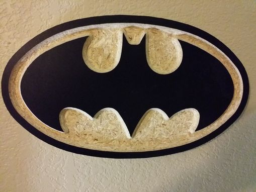 Custom Made Carved Batman Emblem
