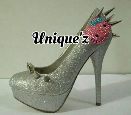 Custom Made Hello Kitty Heels (Spiked Kitty - Silver/Pink/Blue)
