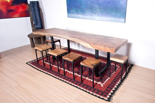 Custom Made Live Edge Wood Slab Table - Ideal For Large Dining Table / Conference Table