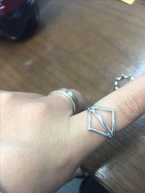 Custom Made Modern Angle Ring