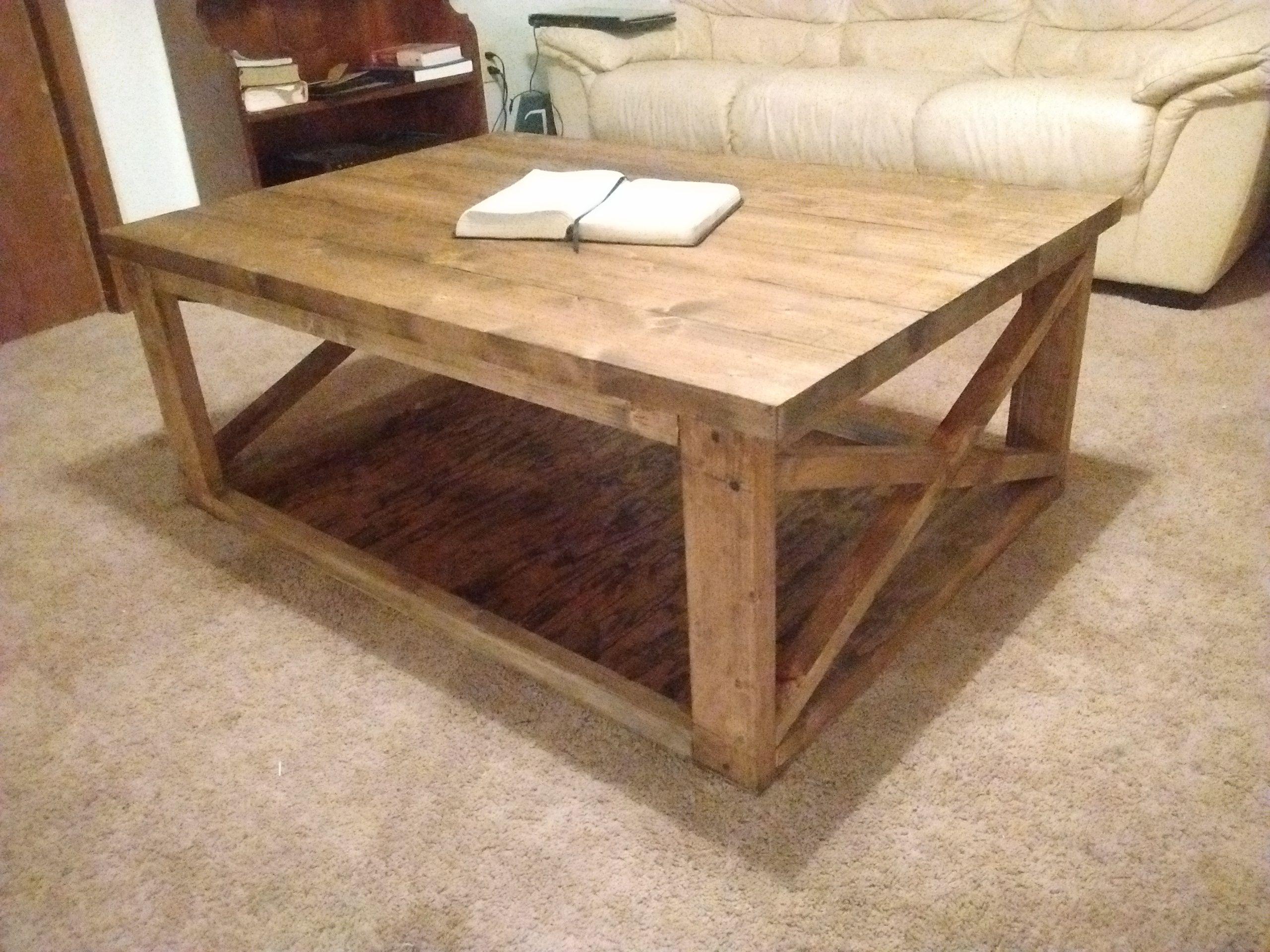 Custom Made Rustic Modern Coffee Table