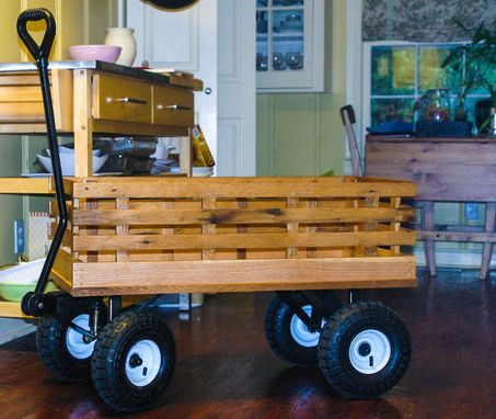 Custom Made Wagon From Reclaimed Oak