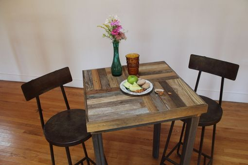 Custom Made Rustic Reclaimed & Sustainably Harvested Wood Pub And Kitchen End Table