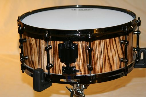Custom Made Zebrawood Concert Snare Drum