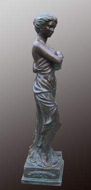 Custom Made Bronze 4 Seasons Spring; Statue