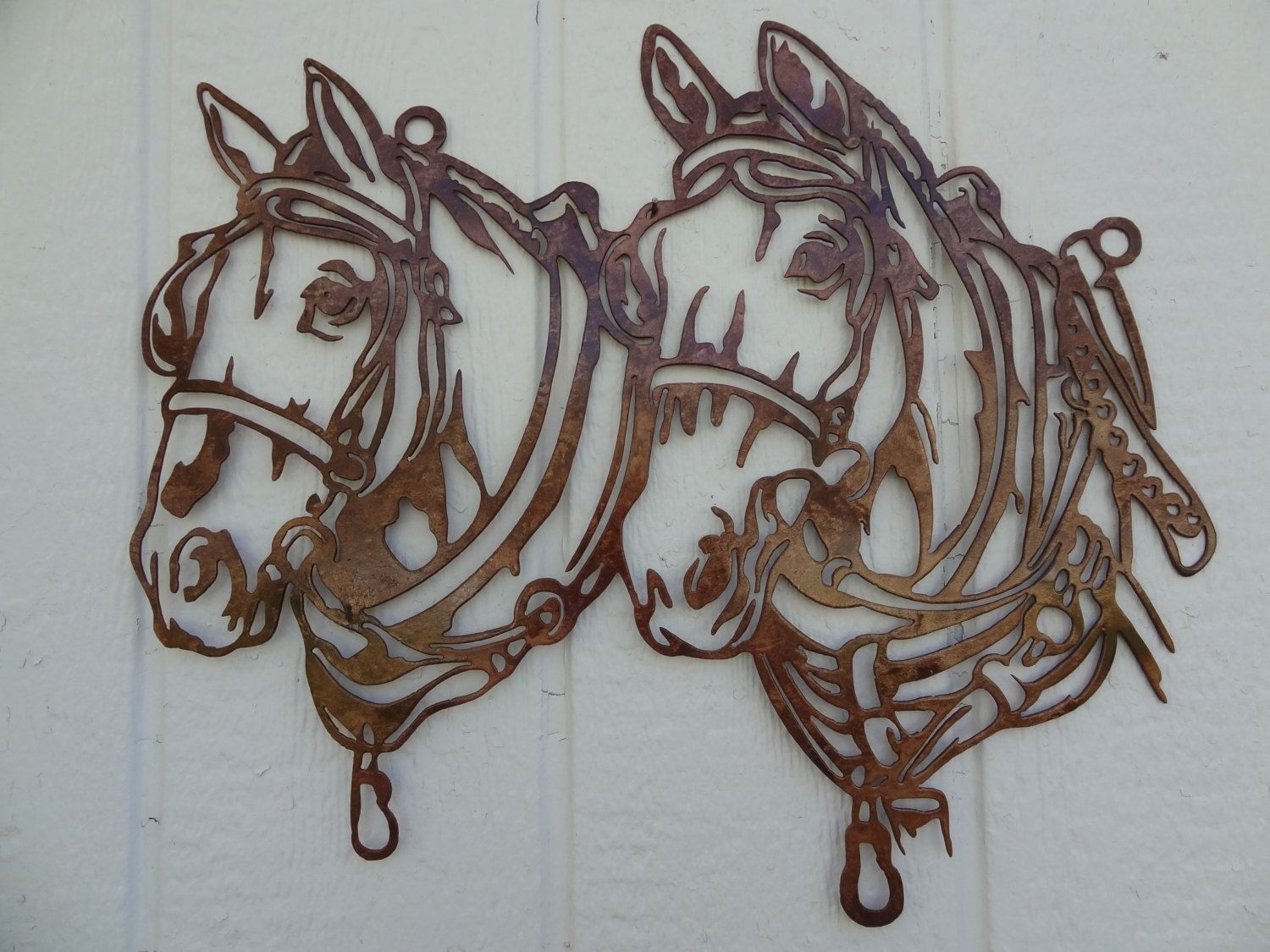 Rustic Metal Wall Art buy a hand crafted draft horse head metal wall art country rustic