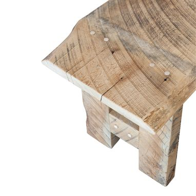 Custom Made Farmstyle Reclaimed Wood Entryway Or Dining Table Bench