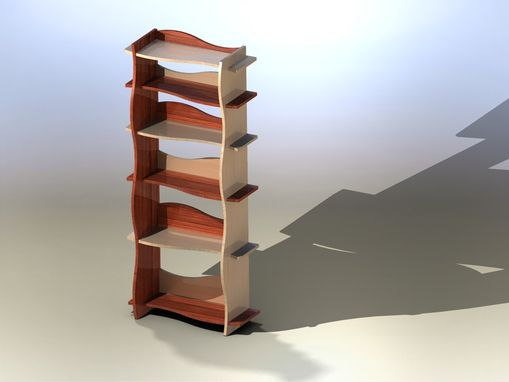 Custom Made Wave Book Case