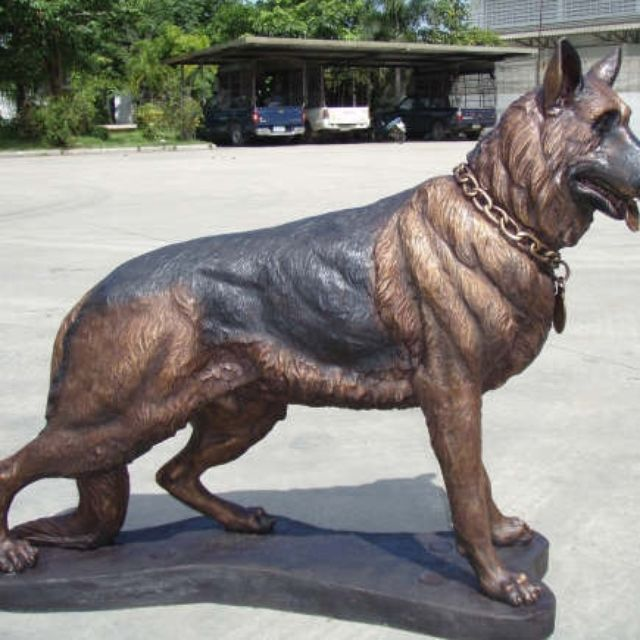 Hand Crafted Bronze German Shepherd Memorial   Life Size Bronzes ...