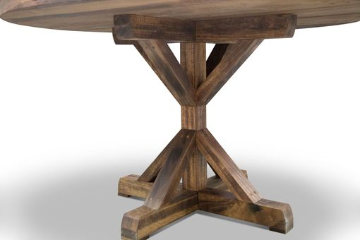 Custom Made Round Pedestal Farmhouse Dining Table