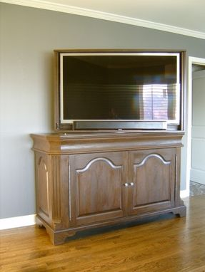 Custom Made Oak Tv Lift