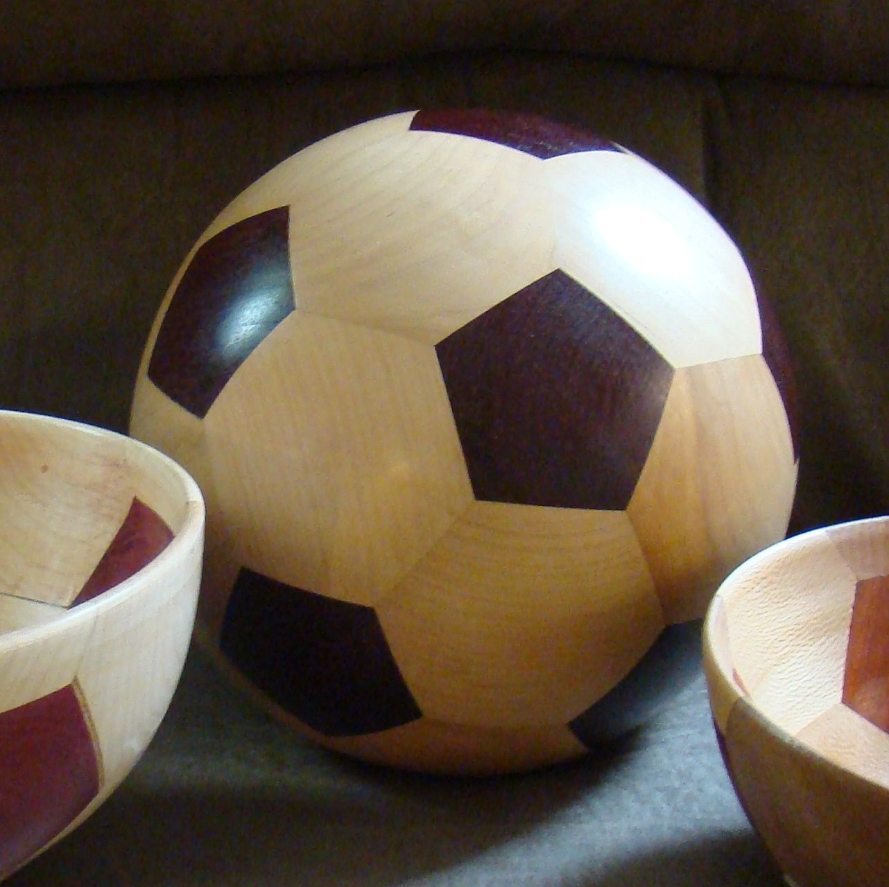 Buy A Custom Segmented Wooden Soccer Ball Made To Order