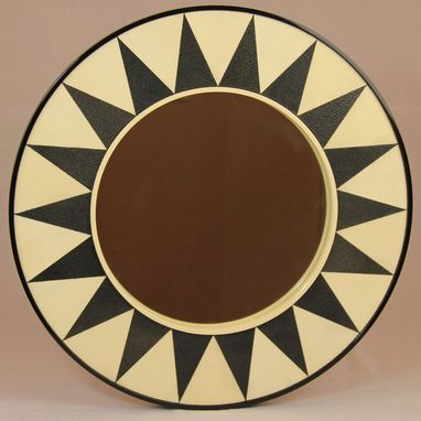 Custom Made Round Shagreen Mirror