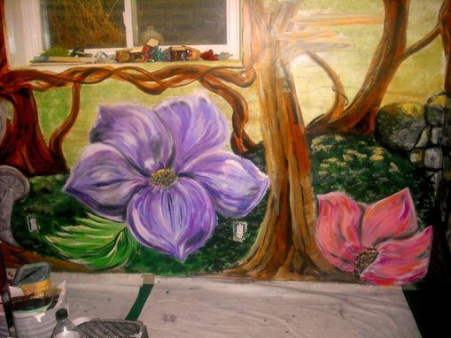 Custom Made Fairy Tree House Bedroom Mural