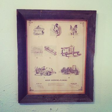 Custom Made Barn Wood Picture Frame