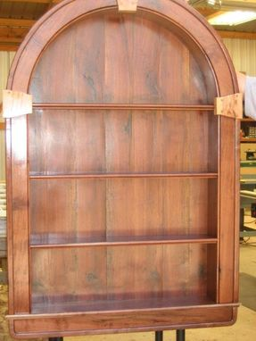 Custom Made Black Walnut Display Cabinet Arts And Crafts Style