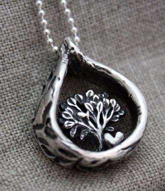 Custom Made Fine Silver - Love & Strength Necklace - $190