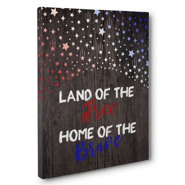Custom Made Land Of The Free And Home Of The Brave Patriotic Canvas Wall Art