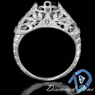 Custom Made Vintage Art Deco Semi Mount Engagement Ring Setting