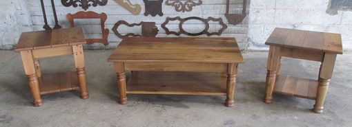 Custom Made Reclaimed Oak Coffee & End Table Set