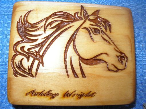 Custom Made Laser Engraved Horse