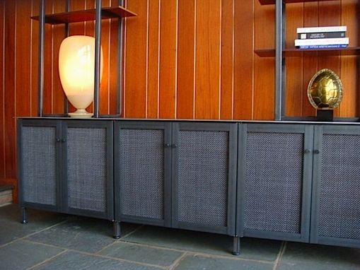 Custom Made Credenza / Shelf Set – Steel & Bakelite