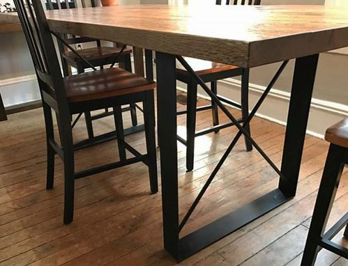 Custom Made Rustic Oak Dining Table