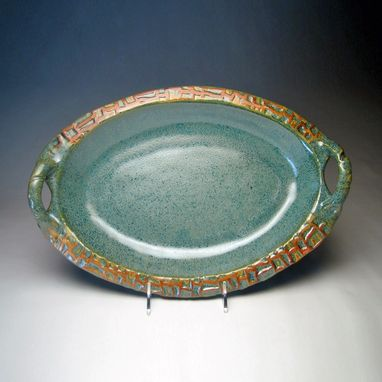 Custom Made Oval Platter With Handles