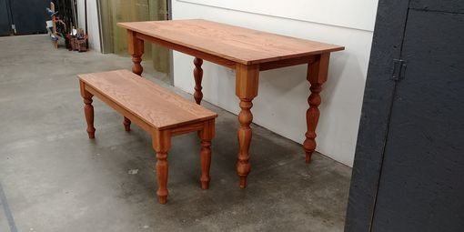 Custom Made Stained White Oak Farm Tables