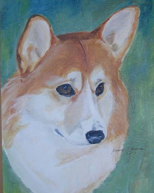 Custom Made Custom Portrait Of Hayley, A Pembroke Welsh Corgi