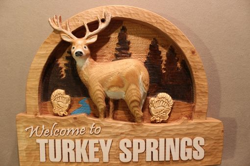 Custom Made Custom Carved Wood Signs | Deer Signs | Cabin Signs | Rustic Signs | Cottage Signs