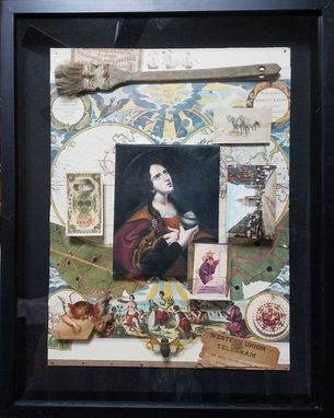 Custom Made Mary Magdalene Oil Painting / Collage
