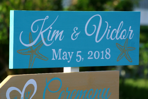 Custom Made Welcome Wedding Sign Wood Beach Wedding Decor. Shoes Optional Signs