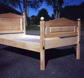 Custom Made Solid Maple Double Panel Bed