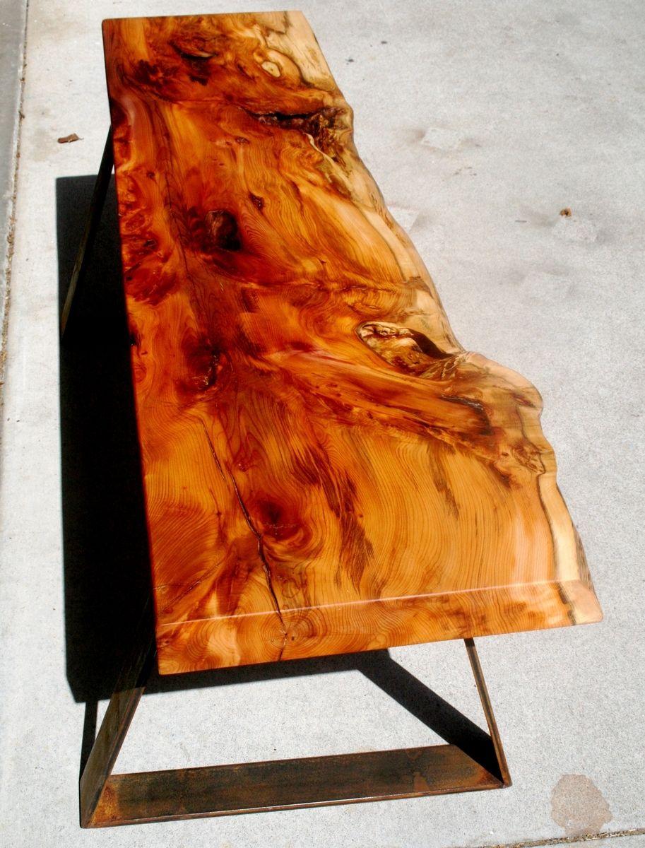 Custom Made Ancient Wood English Yew Bench