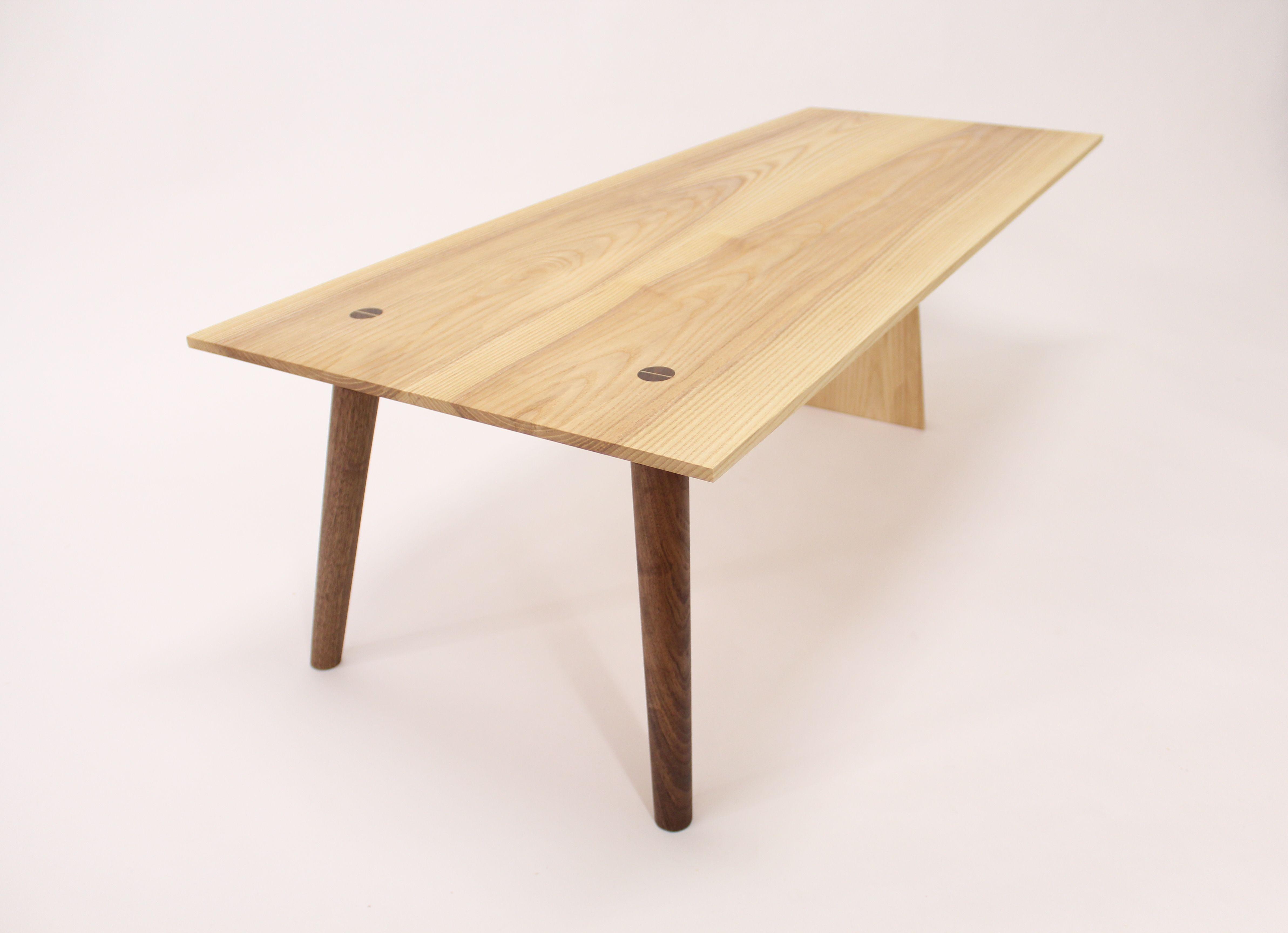 Buy a Handmade Mid Century Modern Ash And Walnut Coffee Table