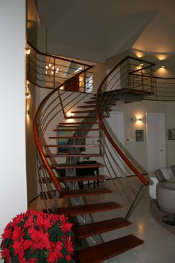 Custom Made Stainless Steel Staircase