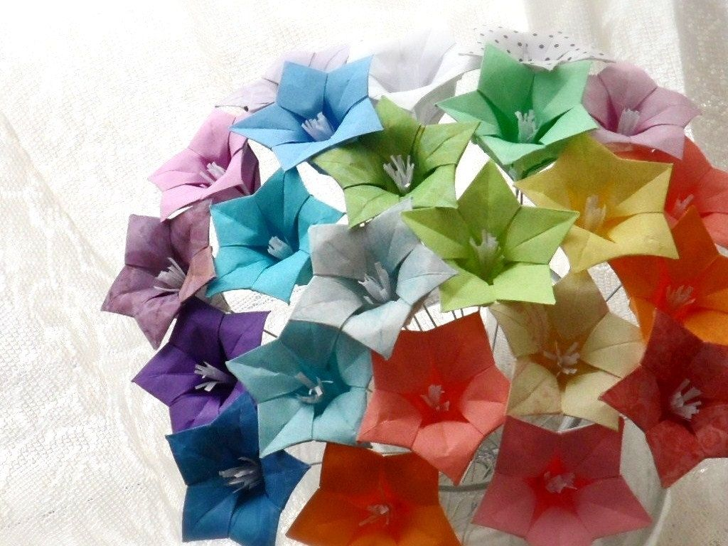 Hand Made Oh So Ombre Origami Paper Flower Bouquet By Dear Betsy