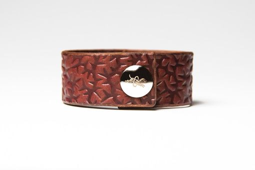 Custom Made Chestnut Brown Leather Cuff
