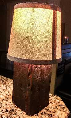 Custom Made Rustic Handmade Lamp