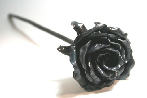 Custom Made Mothers Day Forever Rose Forged Iron 6th Wedding Anniversary Gift Steel Metal Flower