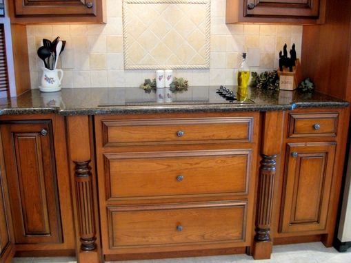 Custom Made Custom Cherry Kitchen With Glaze