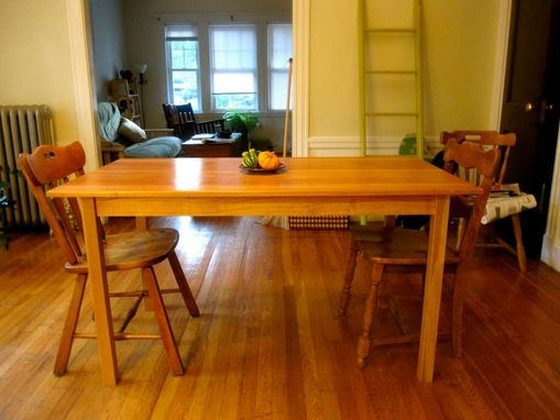 Custom Made Wide Plank Cherry Dining Table
