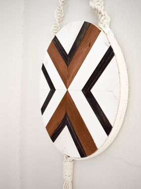 Custom Made Leda - Round Macrame Wood Wall Art Hanging