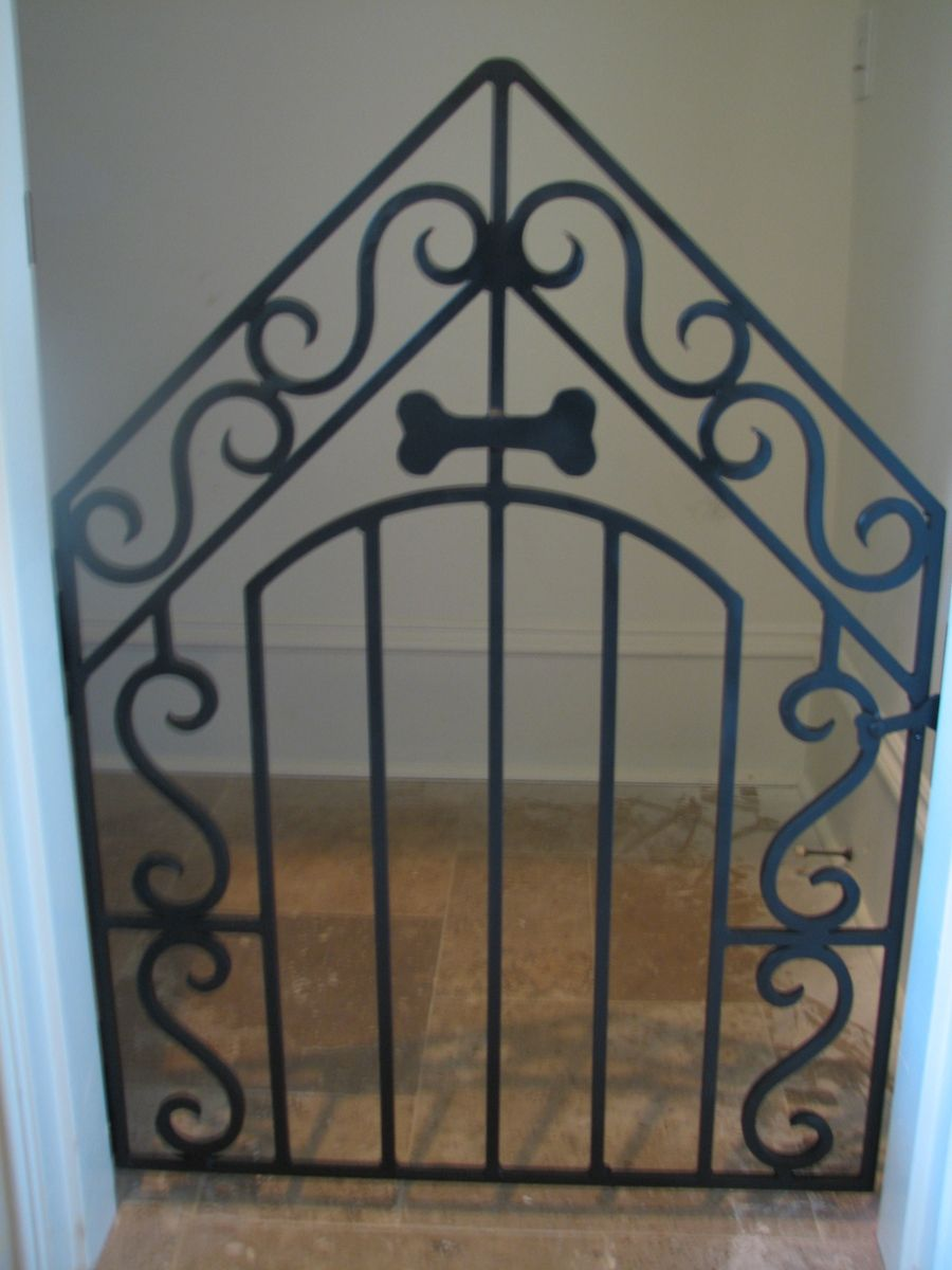 Hand Crafted Wrought Iron Dog Gate By The Looking Glass